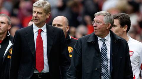 Alex Ferguson congratulated old rival Arsene Wenger for reaching his 1,000th game as Arsenal manager. (AP)