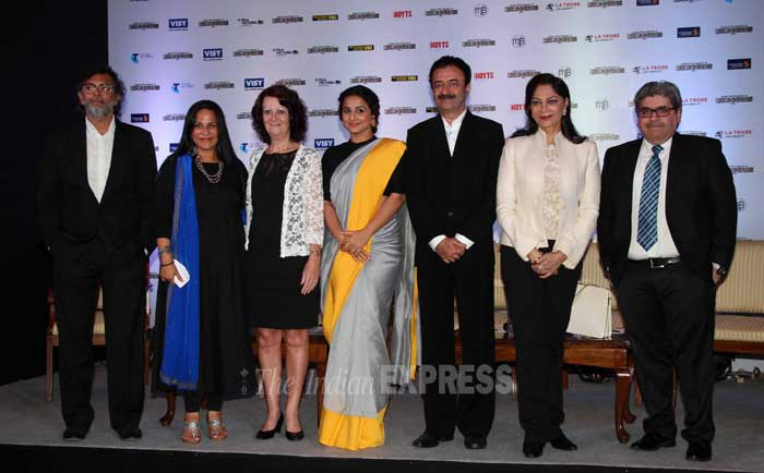 The entire Indian Film Festival of Melbourne team takes the stage for a group picture. (Photo: Varinder Chawla)