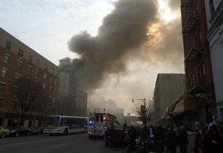 New York City building explosion