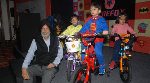 Firefox Managing Director Shivinder Singh with kids.