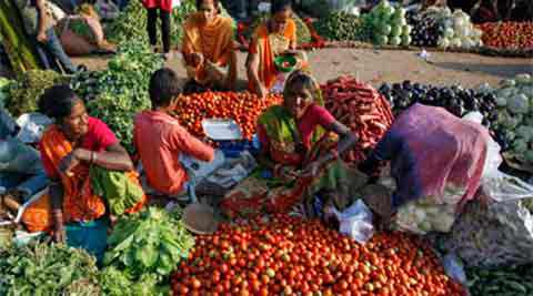 The overall inflation in the vegetable basket dropped to 3.99 per cent, from 16.6 per cent in January. (PTI)