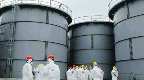 Tanks of radiation-contaminated water at Tepco's tsunami-crippled Fukushima nuclear power plant. (Reuters)
