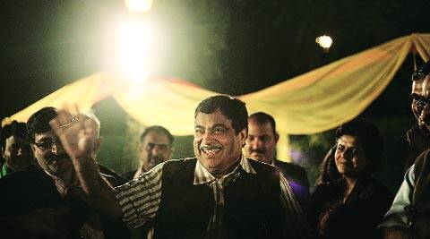 Gadkari at his dinner party in Delhi on Tuesday.