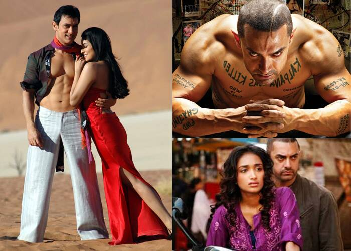 The following year Aamir appeared in action psychological thriller 'Ghajini', which became the highest grossing Bollywood movie of that year and earned Aamir several Best nominations. Aamir got a perfect eight pack abs for his role of a person suffering from short term memory loss.