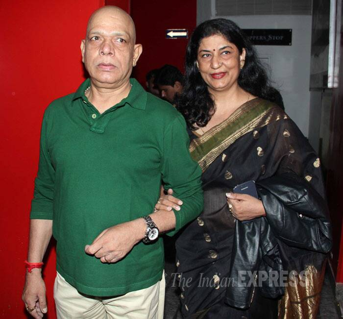 Character actor Govind Namdev arrived with his wife Sudha. (Photo: Varinder Chawla)