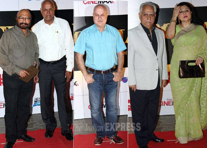 Actors Govind Nihalani, Anupam Kher and director Ramesh Sippy along with his wife Kiran were also present. (Photo: Varinder Chawla)
