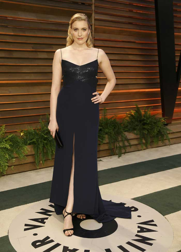 Actress Greta Gerwig was classy in black. (Reuters)