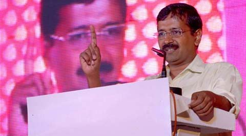 "After his four-day tour of the state to ""inspect"" the development as claimed by BJP's PM candidate Narendra Modi, Kejriwal held a road show and later addressed a rally. (PTI)"