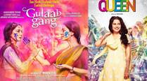 Women Power: Madhuri, Juhi's 'Gulaab Gang', Kangana's 'Queen' hit screens today