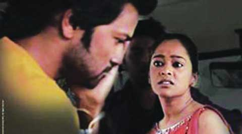 A still  from the first episode that dealt with eve-teasing