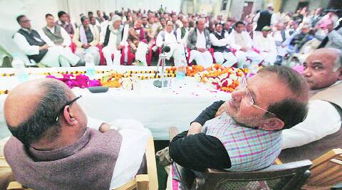 JD(U) chief Sharad Yadav, in Lucknow, Wednesday