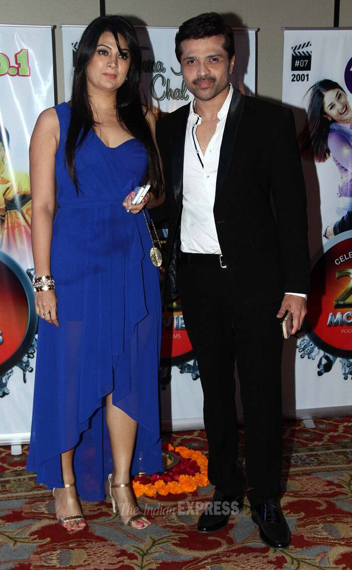 Singer Himesh Reshammiya was accompanied by his wife Komal. (Photo: Varinder Chawla)