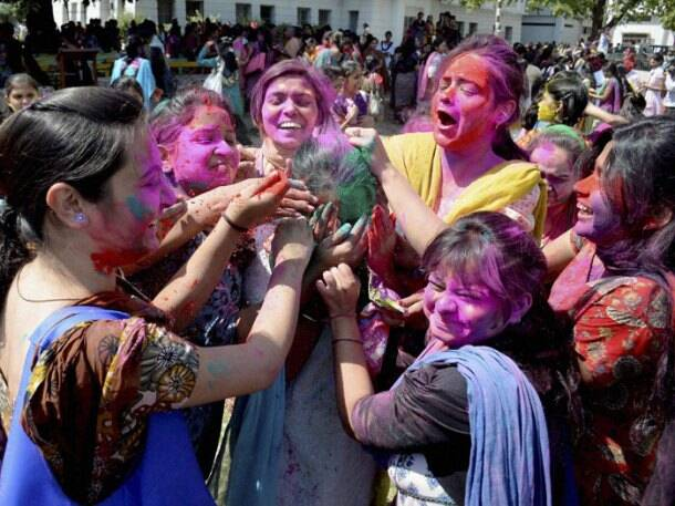 India in Holi spirit