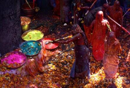 Vrindavan widows play Holi with colours and gulal