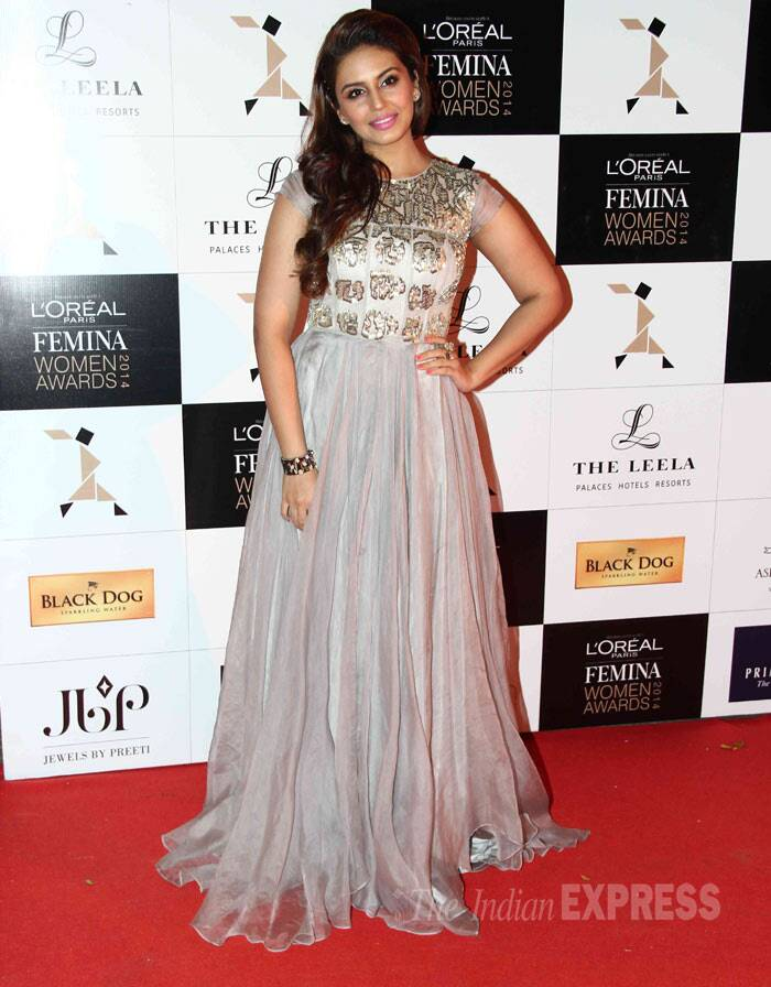 'Gangs Of Wasseypur' actress Huma Qureshi is pretty in her flowy gown. (Photo: Varinder Chawla)