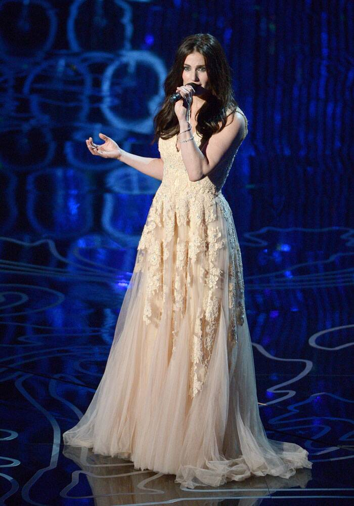 Idina Menzel performs during the Oscars at the Dolby Theatre on Sunday. (AP)