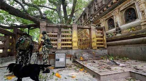 The NIA team took Irfan to Patna in a vehicle under tight security for questioning in connection with the Bodh Gaya serial blasts. (PTI)
