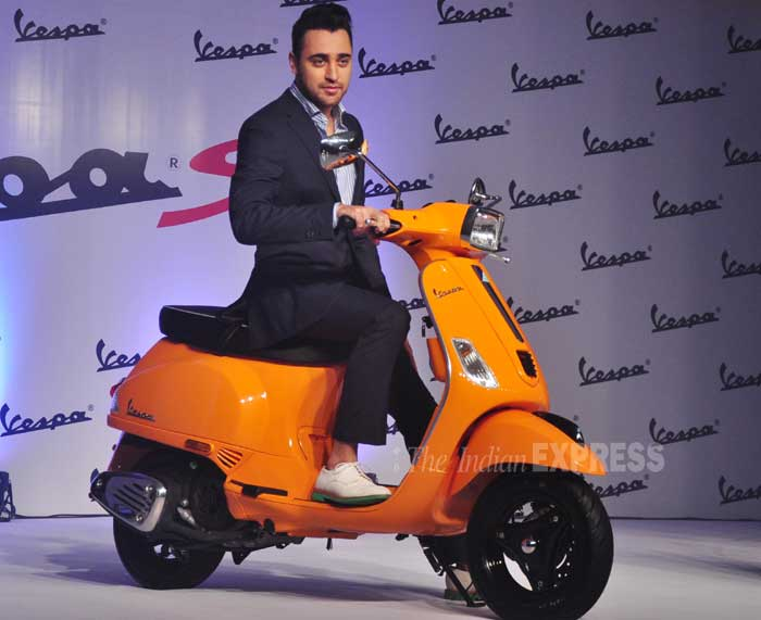 The father-to-be loves his brand new scooter. (Photo: Varinder Chawla)