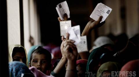 . The maximum number of constituencies (122 across 13 states) will vote on April 17, followed by 117 constituencies across 12 states on April 24. (IE Photo: Praveen Khanna)