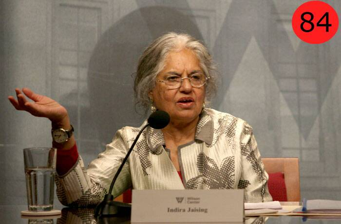 <b>Indira Jaising</b> (74),  Additional Solicitor General<br /> <b>WHY</b>: It was only after the country's first woman Additional Solicitor General took on former Supreme Court judge A K Ganguly for having allegedly sexually harassed an intern that the furore against him gathered steam.