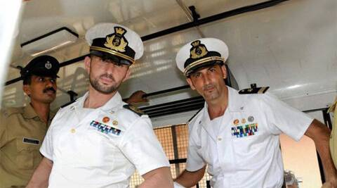 Italian marines Massimilliano Lattore and Salvatore Girone, face charges of killing two fishermen off Kerala coast in February 2012. (Reuters)