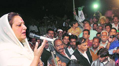 Jaya Prada at a rally in BijnoreVirender Negi