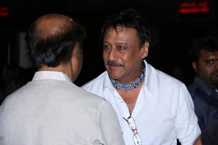 Actor Jackie Shroff, who will be seen in a pivotal role in the film, was also seen at the music launch. (Photo: Twitter)