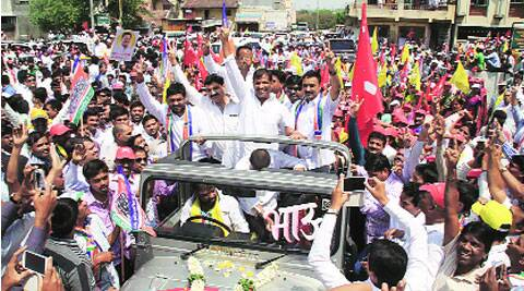 Laxman Jagtap filed his nomination papers on Monday.(Rajesh Stephen)