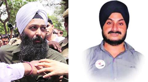 (Left) Shoe-thrower Jarnail; MLA Jarnail Singh.