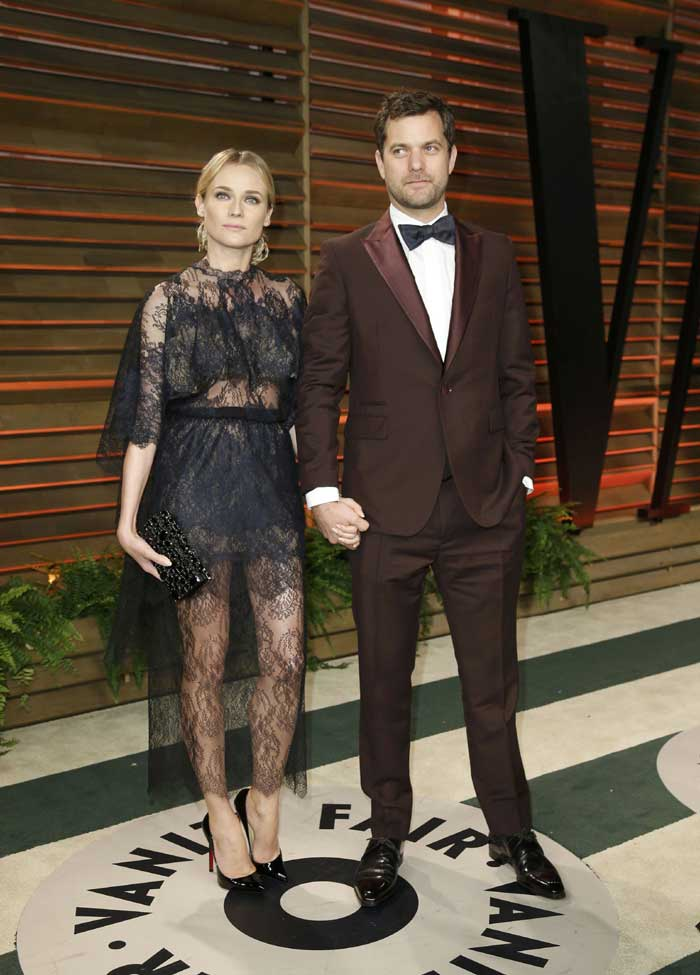 Diane Kruger came with her partner and actor Joshua Jackson. (Reuters)