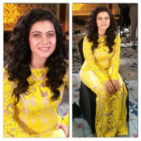kajolyellowdress