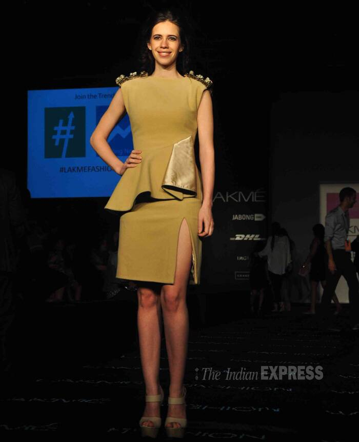 Kalki Koechlin is on a fashion high in a peplum dress by Zhen & Mossi! (Photo: Varinder Chawla)