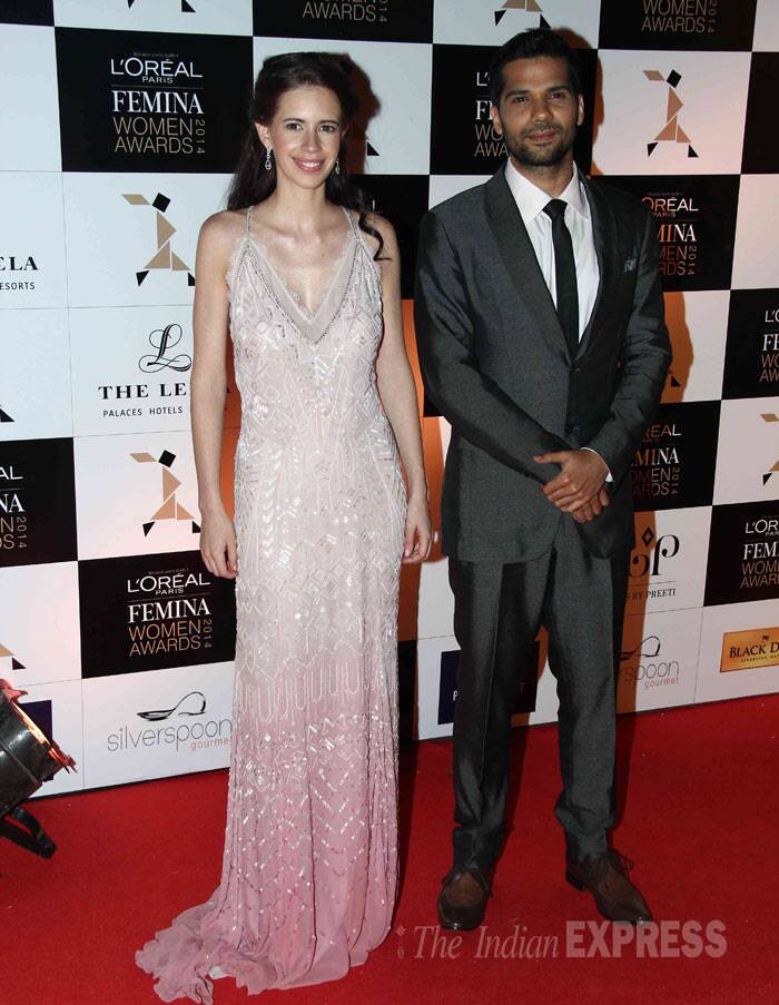 Kalki poses with '24' actor Neil Bhoopalam. <br /><br /> Neil is currently working in Anushka Sharma's debut production 'NH 10'. (Photo: Varinder Chawla)