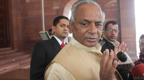 Kalyan Singh and his family members, including daughter-in-law Premlata, are accused of violation of Model Code of Conduct twice. (Express Archive)