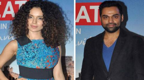 Kangana Ranaut and Abhay Deol at the Bollywood in Britain app launch. (Photo: Varinder Chawla)