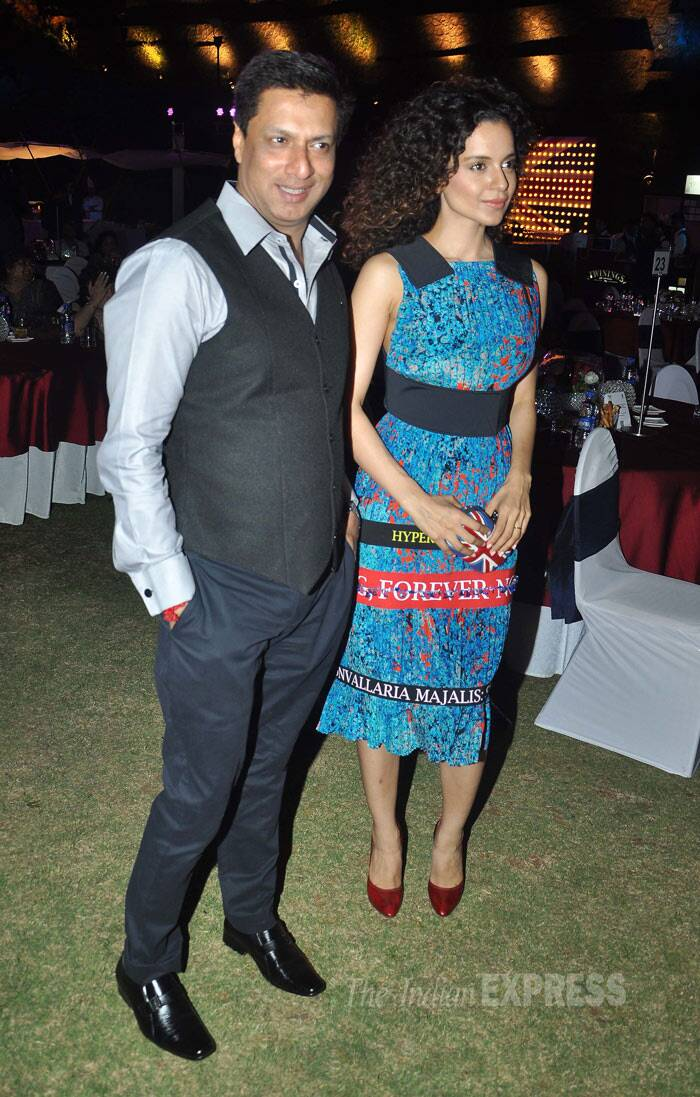 The actress, who is riding high on the success of 'Queen', poses for a picture along with her 'Fashion' director Madhur Bhandarkar. <br /><br /> Kangana had won the National Award, Best Supporting Actress for her role in 'Fashion.' (Photo: Varinder Chawla)