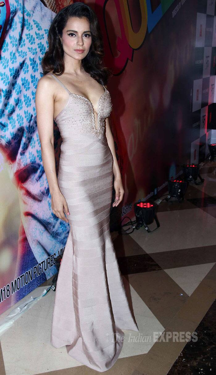 Bollywood's fashionista, who had recenntly celebrated her 27th birthday earlier this month, made our jaws drop in this stunning Herve Leger evening gown with a plunging neckline. (Photo: Varinder Chawla)