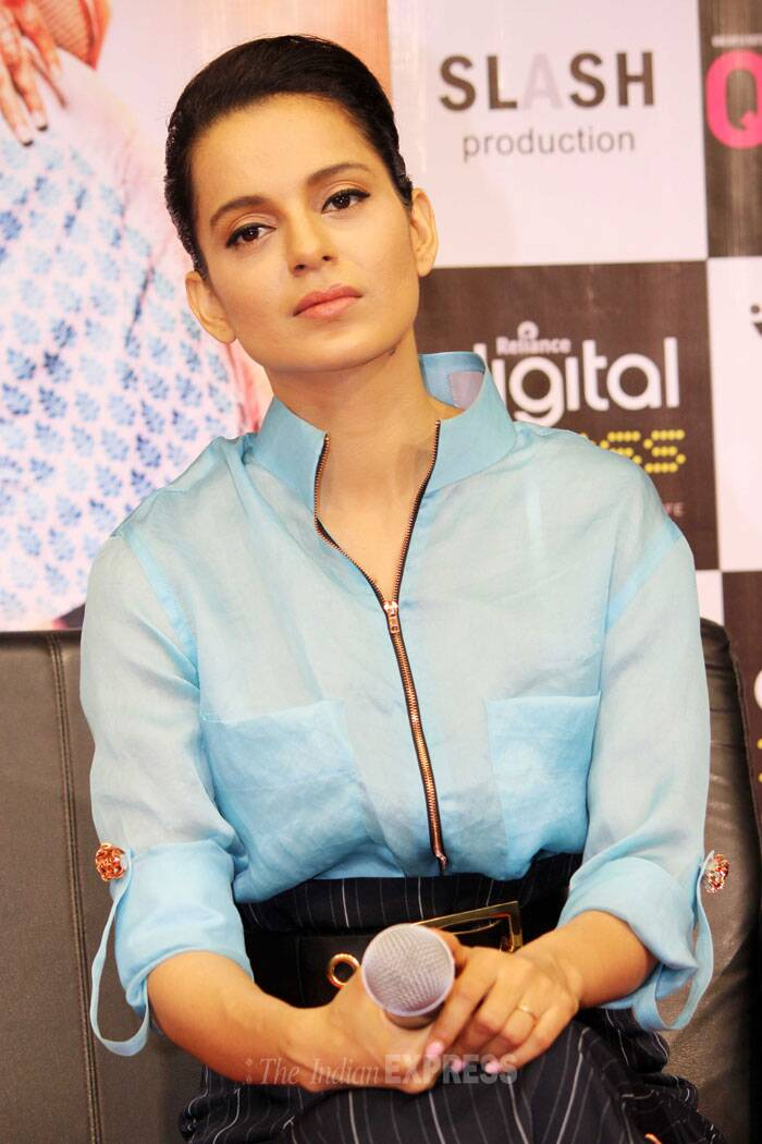Kangana attended a special press meet for 'Queen' at a store in Mumbai on Friday, March 7. (Photo: Varinder Chawla)