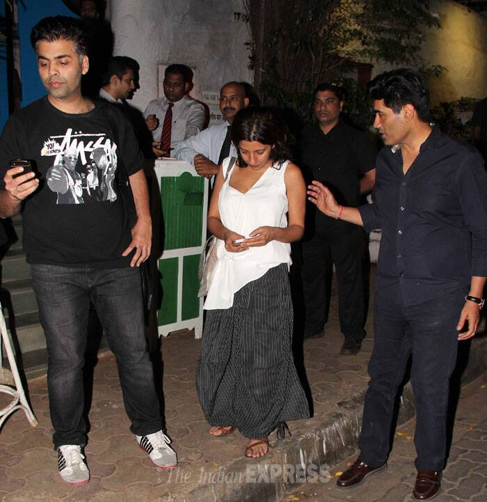 Filmmakers Karan Johar and Zoya Akhtar were also spotted along with designer friend Manish Malhotra. (Photo: Varinder Chawla)