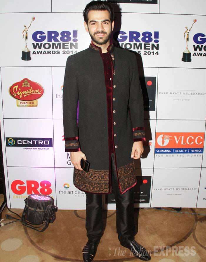 TV actor Karan Grover wore a sherwani for the show. (Photo: Varinder Chawla)