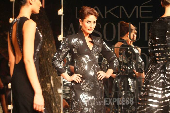 Kareena walked the ramp with just the right attitude and we love her for that. (IE Photo: Amit Chakravarty)