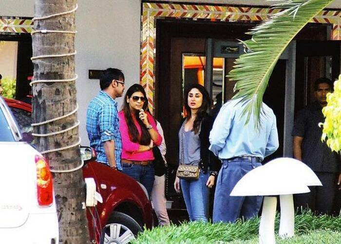 Bollywood actress Kareena Kapoor Khan, last seen in 'Gori Tere Pyaar Mein', was recently spotted in Mumbai at the pre-shooting meeting of 'Singham 2' with co-star Ajay Devgn and director Rohit Shetty (unseen). The 'Golmaal' trio is all set to commence the second installment of the the cop drama. <br /><br /> According to reports, Rohit Shetty, has rewritten Kareena's role in the sequel to suit her stardom! We look forward to the chemistry between the 'Omkara' and 'Golmaal' pair.