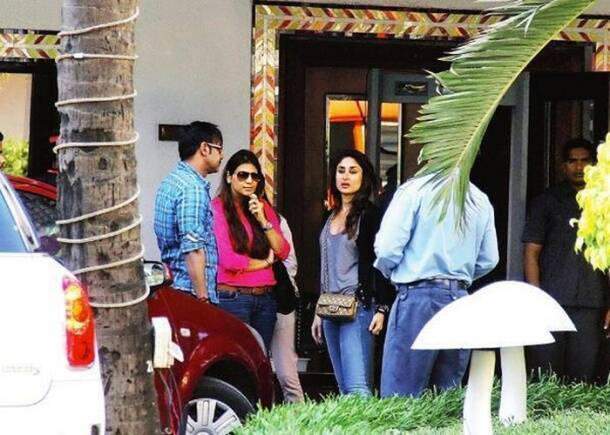 On the sets of Kareena, Ajay Devgn's 'Singham 2