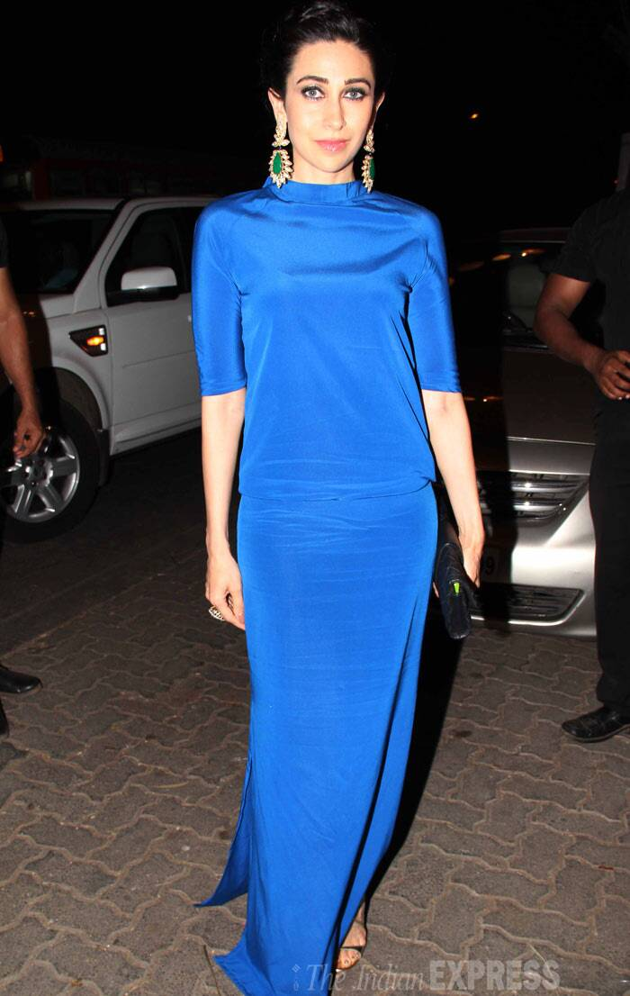 And finally, Karisma Kapoor was a stunning vision in a blue maxi as she launched a new collection of designer jewellery. (Photo: Varinder Chawla)