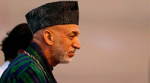 The Afghan embassy said Karzai spent about 20 minutes with his wife and the newborn. (AP)