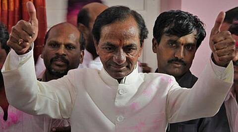TRS chief K Chandrasekhar Rao will take the oath of CM of Telangana on Monday.