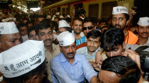AAP leader Arvind Kejriwal and his supporters have been booked under Section 188 (Disobedience to order promulgated by public servant), Section 143 (Unlawful assembly). (PTI)