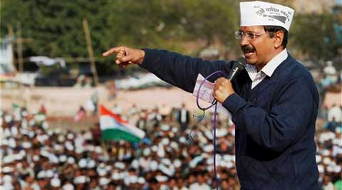 Arvind Kejriwal blamed BJP leader Narendra Modi  for rampant corruption in Gujarat.