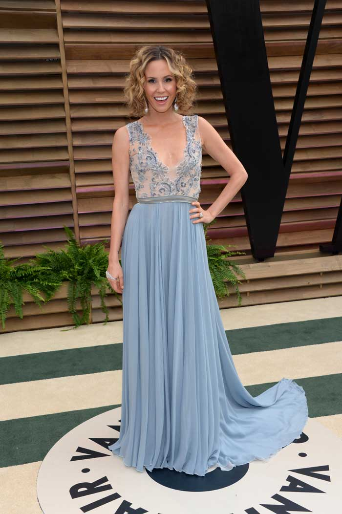 Keltie Knight at the 2014 Vanity Fair Oscar Party. (AP)