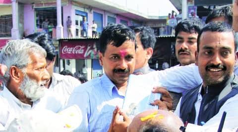 Arvind Kejriwal in Varanasi.  Ravi Prakash